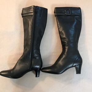 Cole Haan Air Nike Black Horsebit Boots 7.5B